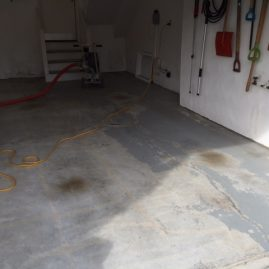 garage flooring before Virginia Beach